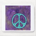 Paz púrpura alfombrillas de ratones