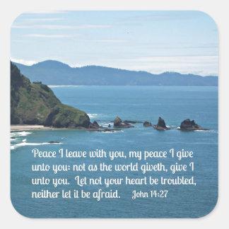 Paz que dejo con usted, mi paz I del 14:27 de Pegatina Cuadrada