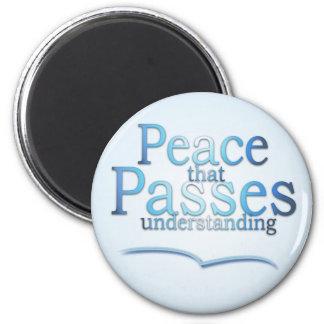 Paz que pasa el imán de comprensión