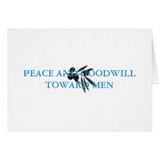 Paz que pasa la comprensión tarjeta
