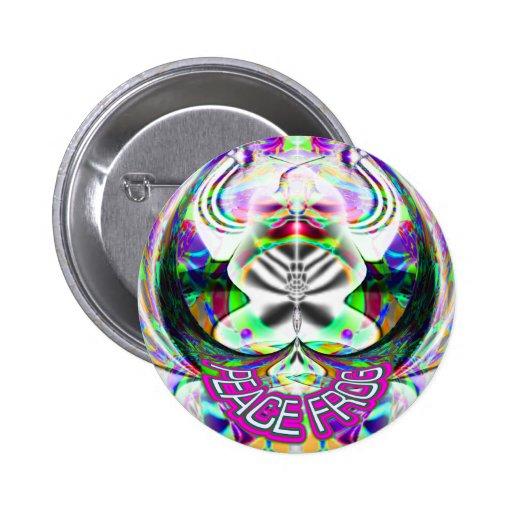 Paz-RANA-botón Pins
