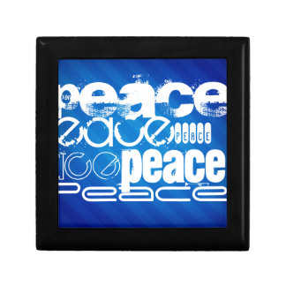 Paz; Rayas azules reales Caja De Recuerdo