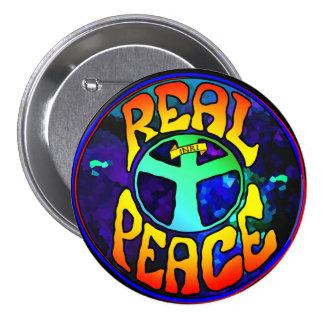 Paz real pin redondo de 3 pulgadas
