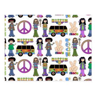 Paz retra del amor del Hippie 60s Postal