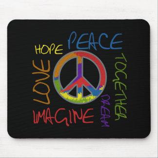 Paz retra alfombrilla de raton