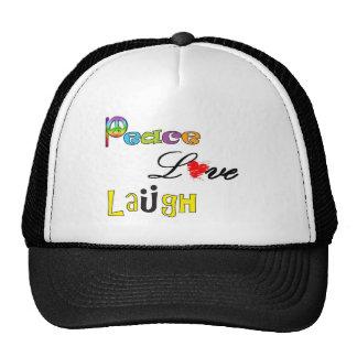 Paz, risa del amor gorras