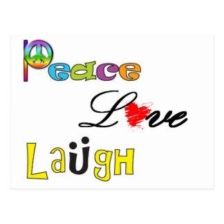 Paz, risa del amor postal