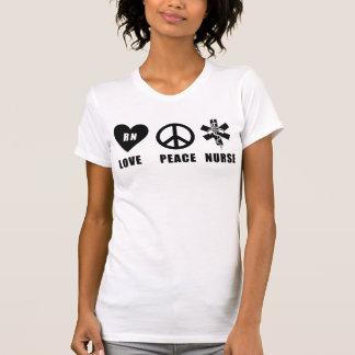 Paz RN del amor del oficio de enfermera Tee Shirt