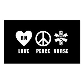 Paz RN del amor Tarjetas De Visita