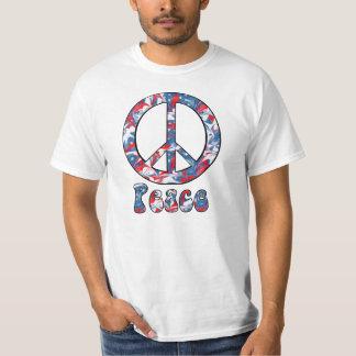 Paz roja, blanca y azul playera