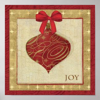 Paz roja de la decoración del navidad impresiones