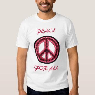paz roja para toda la camiseta playera