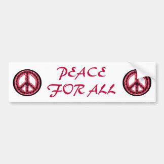 paz roja para toda la pegatina para el parachoques pegatina de parachoque