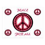 paz roja para toda la postal