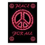 paz roja para toda la tarjeta de felicitación