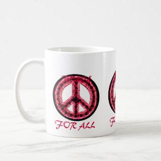 paz roja para toda la taza