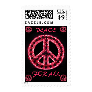 paz roja para todo el franqueo
