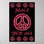 paz roja para todo el poster