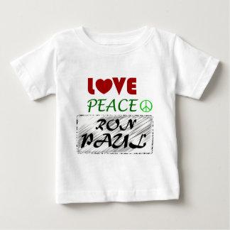 Paz Ron Paul .png del amor Playera De Bebé