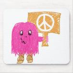 Paz rosada alfombrilla de ratón