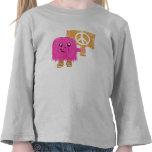 Paz rosada camisetas