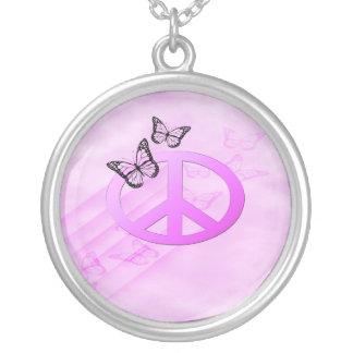 Paz rosada colgante redondo