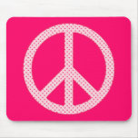 Paz rosada del lunar tapetes de ratones