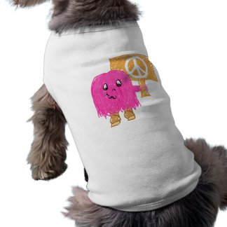 Paz rosada playera sin mangas para perro