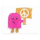 Paz rosada postal