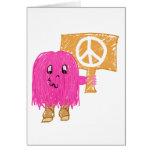 Paz rosada tarjetas