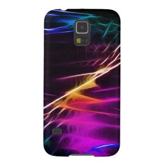 Paz rosada y púrpura del Hippie del amor Funda Para Galaxy S5