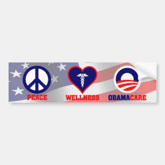 Paz, salud, Obamacare Etiqueta De Parachoque