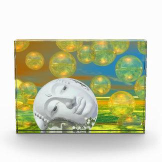 Paz - serenidad de oro y esmeralda abstracta