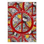 Paz Símbolo-Humana Felicitación