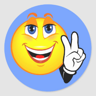 Paz sonriente pegatina redonda