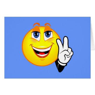 Paz sonriente tarjeta de felicitación