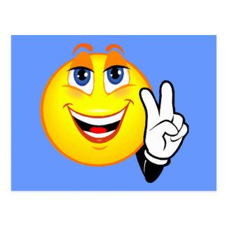 Paz sonriente tarjetas postales