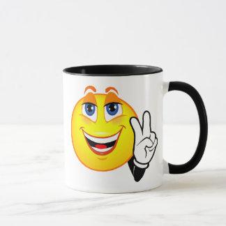 Paz sonriente taza