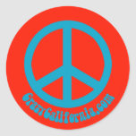 Paz Sticker_02 Pegatina Redonda