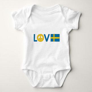 Paz Suecia del amor Body Para Bebé