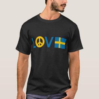 Paz Suecia del amor Playera