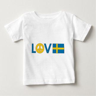 Paz Suecia del amor Playeras