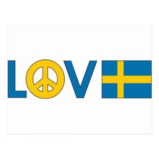 Paz Suecia del amor Tarjetas Postales
