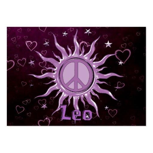Paz Sun Leo Plantilla De Tarjeta De Negocio