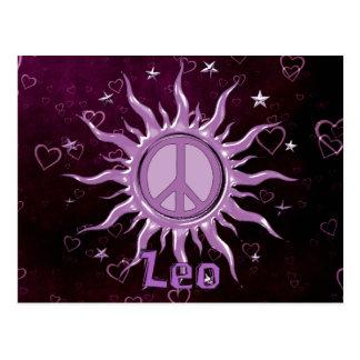 Paz Sun Leo Tarjetas Postales