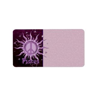 Paz Sun Piscis Etiquetas De Dirección