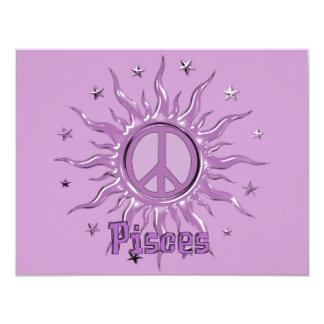 """Paz Sun Piscis Invitación 4.25"""" X 5.5"""""""