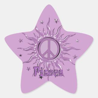 Paz Sun Piscis Pegatina En Forma De Estrella