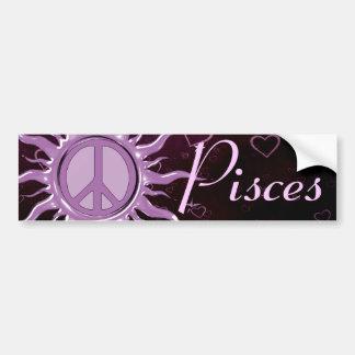 Paz Sun Piscis Pegatina Para Auto