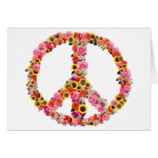 paz tarjeta de felicitación